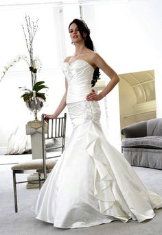 #TrumpetWeddingDresses with long train comes in a variety of modern designs with features that were formerly not available in the conventional wedding gowns and hence improving the general outlook and fragrance of the bride.