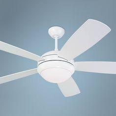 "52"" Monte Carlo Discus White Ceiling Fan - #U3198 | Lamps Plus"