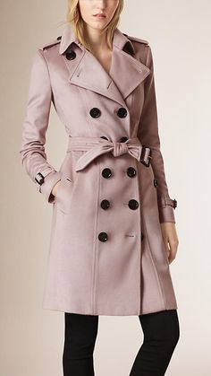e28340f96 Pale orchid Sandringham Fit Cashmere Trench Coat - Image 1 Fashion Company,  Luxury Fashion,