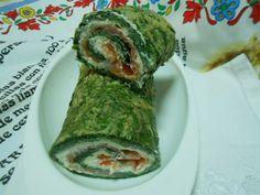 Rulo de espinacas con salmón ahumado