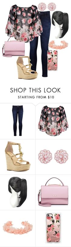 """""""Pretty floral Clothing"""" by dasiy89 on Polyvore featuring Levi's, Michael Kors, Emilio!, WithChic and AURA Headpieces"""