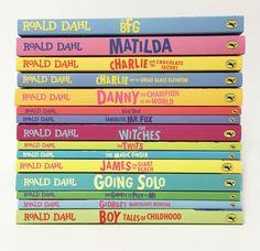Phizz whizzing books from Roald Dahl, the World's NUMBER ONE Storyteller! How many have you read in the stack?