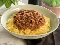 Easy Vegetable Bolognese with Spaghetti Squash Recipe | Valerie Bertinelli | Food Network Vegetable Recipes, Vegetarian Recipes, Cooking Recipes, Healthy Recipes, Vegetable Soups, Chef Recipes, Vegetable Bolognese, Food Network Recipes, Food Processor Recipes