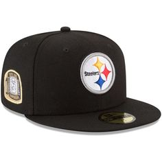 3ce0a25e470 Pittsburgh Steelers New Era Title Trim 59FIFTY Fitted Hat – Black