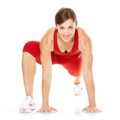 The Spider Jump exercise works your shoulders, triceps, abs, butt, and legs.