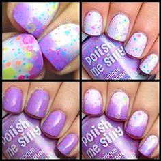 Lilac Lover-Color Changing UV Blacklight Thermal Nail Polish: Custom-Blended Indie Glitter Nail Polish / Lacquer