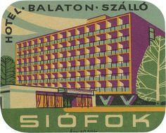 Hotel Balaton, Siófok, signed 'Hi'