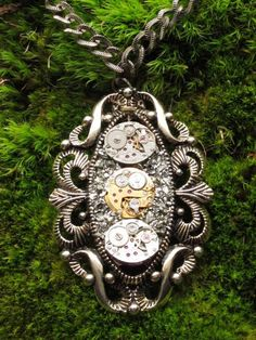 Vintage Antique SteamPunk Necklace & Pendant Iron by isdylanhere, $130.00