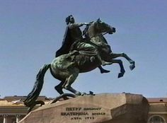 Peter the Great still presides over his city in the. Bronze Horseman