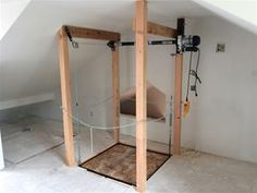 100 homemade diy elevator or dumb waiter miscelaneous utilize your attic space for more efficient storage instead of just junk with our attic lift simply install our platform lift in your garage or other area solutioingenieria Images