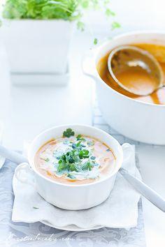 dynia zupa, zupa dyniowa pomidorowa
