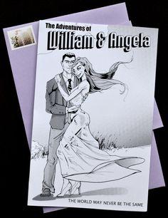 Comic Book Style Wedding Invitation Unique By Weddinglantern