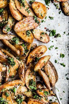 Crispy Roasted Potatoes with Gremolata
