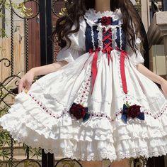 Cute Asian Fashion, Korean Fashion Dress, Kawaii Dress, Kawaii Clothes, Really Cute Outfits, Beautiful Outfits, Kawaii Fashion, Lolita Fashion, Dolly Dress