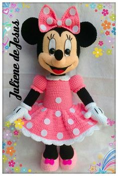 Best 12 Minnie rosa - Her Crochet - Empire Vital Minion Crochet Patterns, Disney Crochet Patterns, Pokemon Crochet Pattern, Pikachu Crochet, Crochet Cow, Crochet Bunny Pattern, Crochet Mouse, Crochet Teddy, Crochet Patterns Amigurumi