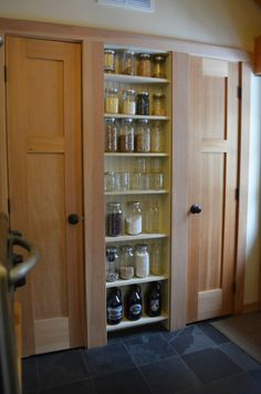 magnificent mason jar themed pantry (wow!) by Wilbur Road (incredible home!)