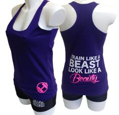 Beauty Beast Fitted Sexy Ladies Women Racerback Gym Yoga Workout Vest Tank Top | eBay