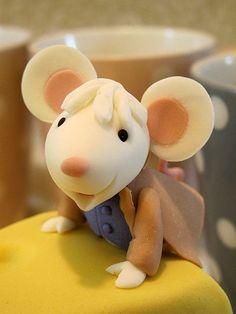 Mice & Cheese Porcelana fria polymer clay pasta francesa masa flexible fimo modelado modelling figurine topper fondant