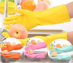 free shipping,6pcs/lot Salon Style Gloves for Unisex/Multi-purpose Latex Rubber Gloves Women Men/Working Protective Gloves