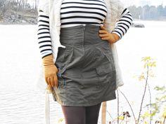 Syystakki muuttui hameeksi - VillaNanna - DIY - Lifestyle, Skirts, Fashion, Moda, Fashion Styles, Skirt, Fashion Illustrations, Gowns