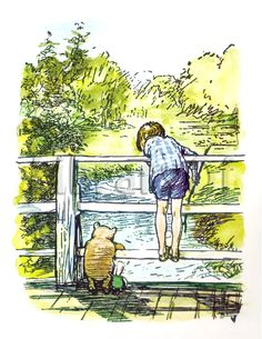winnie the pooh. One of my favorite pictures of Winnie the Pooh and Christopher Robin Winne The Pooh, Winnie The Pooh Quotes, Christopher Robin, Eh Shepard, John Wright, Hundred Acre Woods, La Dordogne, Art Original, Original Version