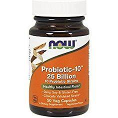NOW Foods Probiotic-10 25 Billion, 50 Vcaps