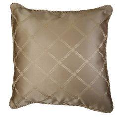 Diamond Damask Design Decorative Throw Pillow