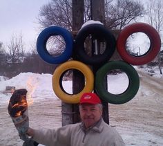 Passing the Olympic torch