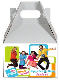 World of Pinatas - The Fresh Beat Band Personalized Gable Box (set of 6), $11.99 (http://www.worldofpinatas.com/the-fresh-beat-band-personalized-gable-box-set-of-6/)