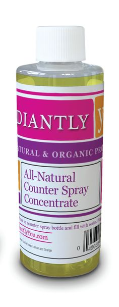 This is only the 4 oz. bottle of All Natural Counter Spray concentrate. It's perfect for refilling your 32 oz. Radiantly You Counter Spray bottle and saving transportation costs!