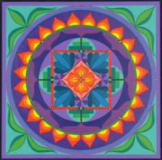 CAMI'S INTUITION: Personal Mandala Painting by Eileen Bradley Tanfani for Cami Walker, 29Gifts.org Founder