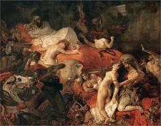 외젠 들라크루아, 사르다나팔루스의 죽음, 1827, 루브르박물관. 전쟁의 패배로 자신의 최후를 각오한 아시리아의 왕이 벌인 광란의 한 장면