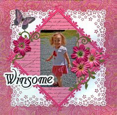 Ideas for Scrapbookers: Create a pretty punched border for your layouts!