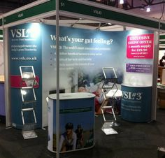 VSL#3 ISOframe Wave exhibition stand in shell scheme