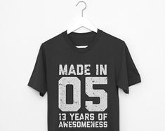 Check out our birthday shirt selection for the very best in unique or custom, handmade pieces from our shops.