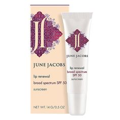 Lip Renewal SPF 50 by June Jacobs at b-glowing. A lip balm that soothes and hydrates lips while offering powerful SPF protection. Beauty concierge available. Natural Lip Balm, Natural Makeup, Butter London Lippy, Lip Hydration, How To Line Lips, Broad Spectrum Sunscreen, Green Tea Extract, Lip Plumper, Hair Sticks