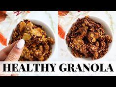 PUMPKIN SPICE GRANOLA: healthy pumpkin recipes - YouTube Keto Granola, Healthy Pumpkin, Pumpkin Recipes, Pumpkin Spice, Spices, Tasty, Cookies, Breakfast, Plant Based