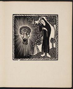 "Josef Váchal, woodcut for ""Slavík svatého Bonaventury"" (1910) by St. Bonaventure"