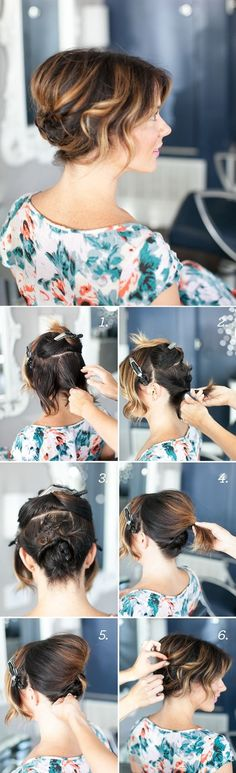 Do It Yourself Updo Hairstyles For Short Hair With Picture Step By Step