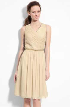 Candlelight - Donna Morgan Belted Ruched Chiffon Dress | Nordstrom
