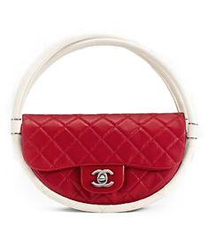 Chanel big red hoop