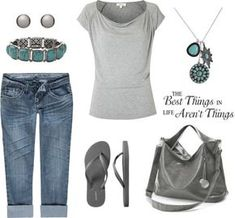 """""""Gray Casual"""" by leisa-708 ❤ liked on Polyvore"""