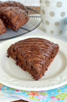 Three times the chocolate makes these chocolate scones a perfect start to any day!
