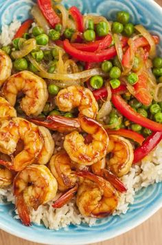 The sweet and savory honey garlic shrimp and fresh veggies in this recipe give stir-fry a summer makeover, but it's a great dish any time of year.