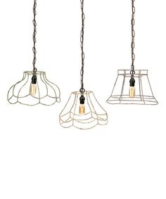 Look what I found on #zulily! Crestly Wire Lamp Shade Pendant Light Set #zulilyfinds