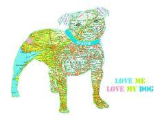 Bespoke Staffordshire Bull Terrier Dog Print