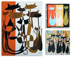 Mid Century Modern Art | ... and textiles paired with an obvious passion for mid century modern