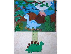 3D Personalized handmade dinosaur art for kids by KerriLynnKreates, $35.00 Dinosaur Projects, Dinosaur Art, Art For Kids, 3 D, Kids Rugs, Unique Jewelry, Handmade Gifts, Vintage, Etsy