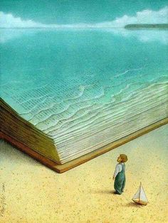 One of the greatest visuals I've ever seen to describe what it feels like to read a good book.  Amen.