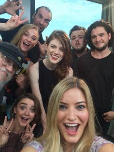 Selfie! Game of Thrones cast and author.  ~ComicCon~